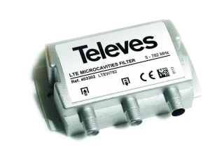 Televes 403302 LTE filtr 5-782 MHz, microcavity