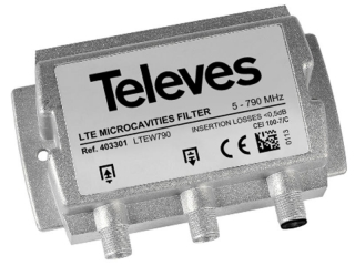 Televes 403301 LTE filtr 5-790 MHz, microcavity